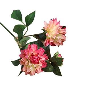 Shangwelluk 1Pc Artificial Romantico Planta de Flor de Dalia Falsa Real Toque Artificial Flores en Floreros Decoración de Boda/Decoración para el hogar/Parte/Graves Arreglo