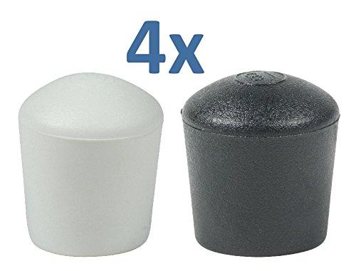 Lifeswonderful - 4 Stück Gewölbte Schutzkappen für Möbel - viele verschiedene Farben und Größen - Schwarz 35 mm -