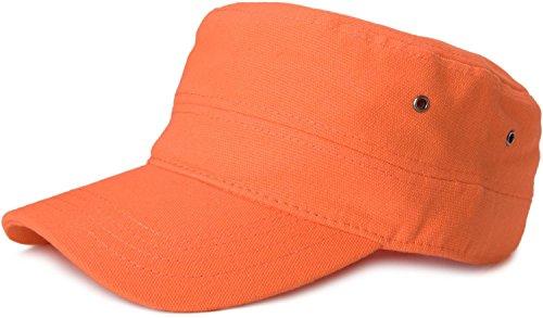 styleBREAKER Cap im Military-Stil aus robustem Baumwollcanvas (Orange)