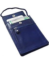 Safekeepers - Bolso Portadocumentos de Viaje Festival . 100% Piel con RFID SKIMM technologia . Para Iphone 7 y el Pasaporte