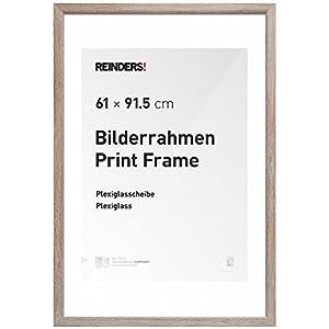 REINDERS Bilderrahmen für Maxi-Poster 61x91,5cm Holzoptik (Braun)