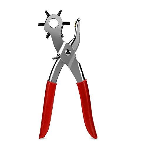 Daozea 2.0 Mm-4.5 mm tournant en cuir Pince emporte-pièce 6 tailles ronde trou perforateur Outil Make Hole Puncher pour carte de bracelet Ceinture de cuir