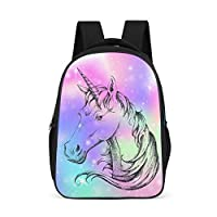 Dofeely Unicorn Pattern School Backpacks Casual Ergonomic School Bag Backpack Teenager Functional Daypack for Outdoor Shopping 32 x 18 x 42 cm