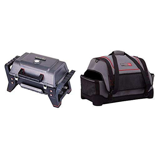 Char-Broil X200 Grill2Go - Portable Barbecue Grill with TRU-InfraredTM technology, Grey| Cast aluminium with Portable Gas Grill Carry Bag