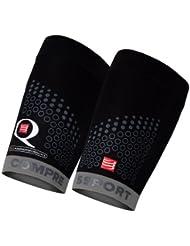 Compressport For Quad Trail - Calentadores de brazos de running para hombre, color negro / gris, talla FR : L (Taille Fabricant : T3)
