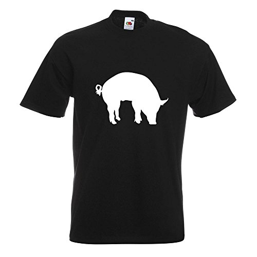 KIWISTAR - Schwein Pig Sau T-Shirt in 15 verschiedenen Farben - Herren Funshirt bedruckt Design Sprüche Spruch Motive Oberteil Baumwolle Print Größe S M L XL XXL Schwarz