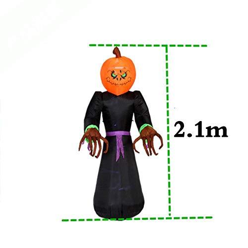 TUWEN Halloween Aufblasbare KüRbis Lampe Oxford KüRbis Laterne Mall Bar Hotelfachschule TüR Dekoration Requisiten