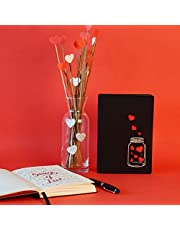 Doodle Love in A Jar Premium Hard Bound B6 Diary Notebook (4.75 X 7 Inches, 80 GSM, 192 Ruled Pages) Diary for Girls, Diary for Girlfriend