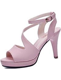 LISABOBO Zapatos de mujer zapatos de boda Primavera Verano peep toe Rhinestone para fiesta de boda y la noche...
