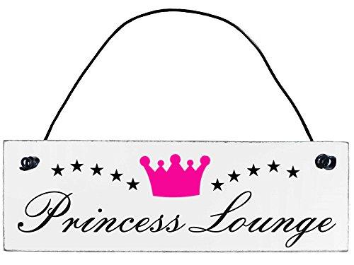 Shabby Chic Vintage Schild Princess Lounge Dekoschild Türschild