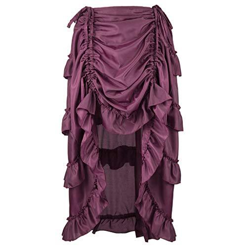 n Kleid,Frauen Gothic Kleid Lang Rock Corsagenkleid Spitzen Kostüm Fighter Burning Western Karneval Fasching Cocktailkleid Partykleid ()