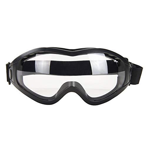 Babimax Schutzbrille Sicherheitsbrille aus PC&PVC mit Kratzfester Scheibe Panoramablickfeld für...