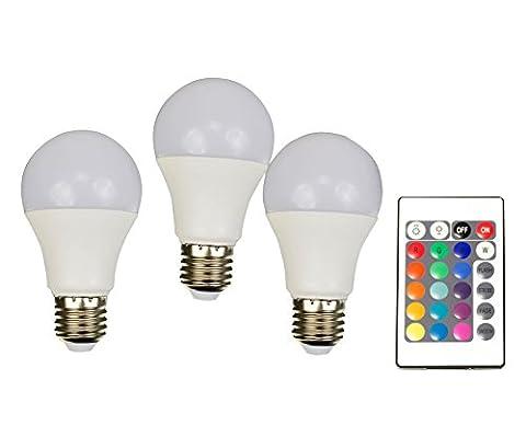 X4-LIFE LED-Leuchtmittel 3-er Set RGB+W 701457