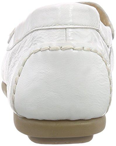 super popular 5ef94 82d3a Caprice 24602 Damen Mokassin Weiß WHITE PATENT 123 ...