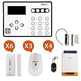 Atlantic'S Alarme Maison sans Fil GSM ATEOS Kit Max 2 (MD-326R), Blanc