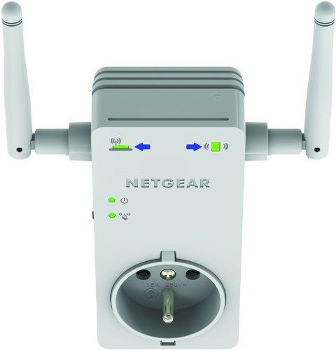 Netgear WN3100RP-100FRS Répéteur Universel Wifi-N avec Prise Filtre Intégrée 1 Port Réseau