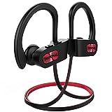 Mpow Bluetooth Kopfhörer, IPX7 Wasserdicht Kopfhörer Sport, 7-10 Stunden Spielzeit, Rich Bass, Sportkopfhörer Joggen/Laufen Bluetooth 4.1, In Ear Kopfhörer mit Mikrofon für iPhone Android usw