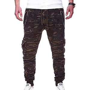Männer Mehr Tasche Hosen Freizeit Hosen Sport Beam Fuß Hosen Einfarbig Einfach Hosen M-3XL