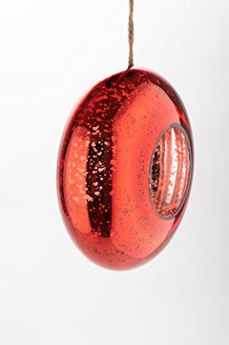 Orailys Hochwertiges Designer Vogelhaus aus Rotem Glas