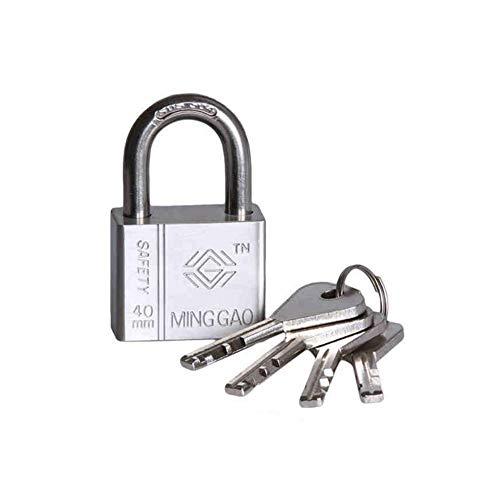 Yangwb2000 lucchetto anti-manomissione, serratura esterna domestica chiave domestica del dormitorio, serratura antifurto impermeabile resistente a chiave di rame, acciaio inossidabile 304