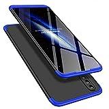 Hnzxy Coque pour iPhone 6 Plus/6S Plus Housse Etui en PC Matière, Coque 360 degrés intégrale Full Body Cover 2 en 1 Plastique Coque Housse Hybride Etui de Protection Pour iPhone 6S Plus,Bleu Noir