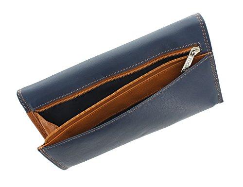 Portafoglio da Donna in Pelle Mala Leather Collezione TABITHA con Protezione RFID 3272_77 Rosa Blu marino