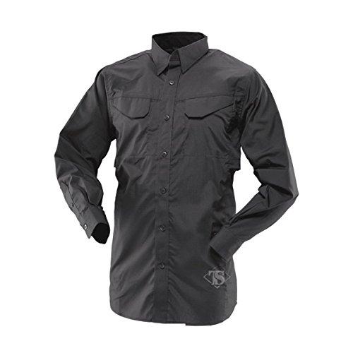 tru-spec Men' s Lightweight 24–7Long Sleeve Field Shirt Black