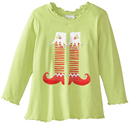 Flap Happy Baby Girls' Girl's Lettuce Edge Tee With Graphic