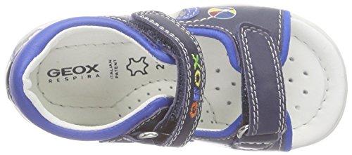 Geox B Sandal Elba Boy A, Sandales premiers pas bébé garçon Bleu - Bleu marine/bleu roi (C4226)