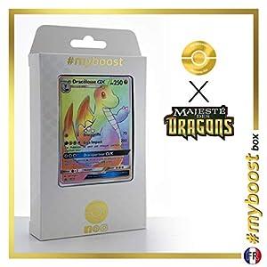 Dracolosse-GX (Dragonite-GX) SM156 Arcoíris - #myboost X Soleil & Lune 7.5 Majesté Des Dragons - Box de 10 Cartas Pokémon Francés