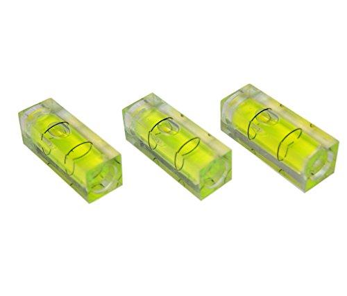 Rechteckige Mini-Wasserwaage, 3er-Pack, 29 mm