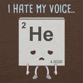 NERDO - I hate my Voice - Herren T-Shirt Braun