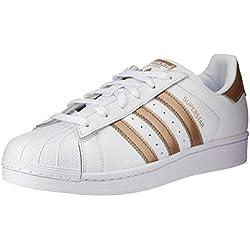 adidas Superstar, Zapatillas para Mujer, Blanco (Footwear White/Cyber Metallic/Footwear White 0), 38 EU