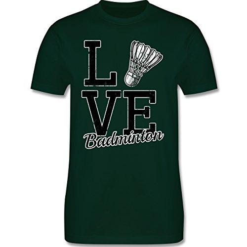 Sonstige Sportarten - Love Badminton - Herren Premium T-Shirt Dunkelgrün