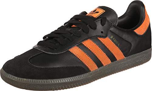 adidas Männlich Samba OG Sneaker Low, Core Black-hi-res Orange-gold Metallic (B75804), 45 1/3