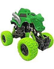 Popsugar Pull Back Dinosaur Monster Truck with Big Rubber Wheels for Kids