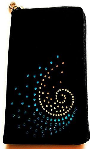 Handy L1 Lg Case Blau (Reissverschluss Handytasche Softcase mit Strass Motiv