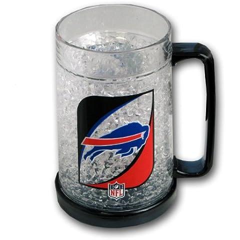 Producto oficial - cristal plástico congelador taza de desayuno con diseño de equipo de fútbol americano facturas de Buffalo