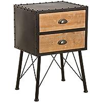 Preisvergleich für Aubry Gaspard mtn1180Nachttisch aus Holz und Metall