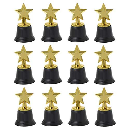 Gold Award Trophies - 12er-Pack - Auszeichnung mit dem Leistungspreis für Preisverleihungen, Partyartikel und Partybedarf ()