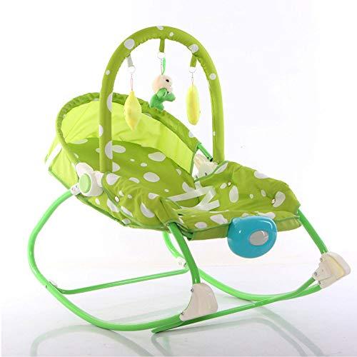 CXCX Schaukel Stuhl Prahler Baby Schaukelstuhl Lehnstuhl Neugeborenes Wiegen Bett Nicht Elektrisches Kind Baby Schläfriges Baby Artefakt Schlaf,Green