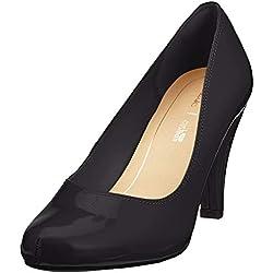Clarks Dalia Rose, Zapatos de Tacón para Mujer, Negro (Black Patent), 37.5 EU