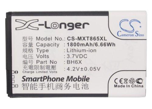 CS-MXT865XL Akku 1800mAh Kompatibel mit [Motorola] A954, Atrix 4G, Droid X2, MB860, MB870, ME722, Olympus, XT865, [VERIZON] Bionic 4G LTE Ersetzt BH6X, SNN5880, SNN5880A (Akku Mb860)
