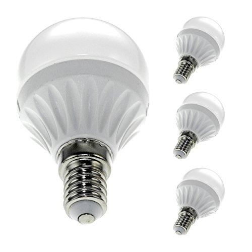 SAVONGA® 4x E14 5W G45 LED Lampe Glühbirne Leuchtmittel Beleuchtung Licht Light Bulb, 400 Lumen 3000K warmweiß, ersetzt 35W Glühlampe, Bauform Globus Globe