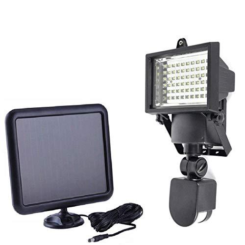 ADEMAY Solar Strahler,60 Led Solarlampen mit Bewegungsmelder - Außen Solarpanel Strahler...