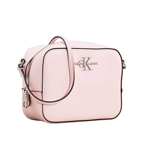 Tasche Monogram (Calvin Klein Damen Ckj Monogram Hw Camera Bag Umhängetasche, Pink (BLOSSOM), 7x12.7x16.8 cm)