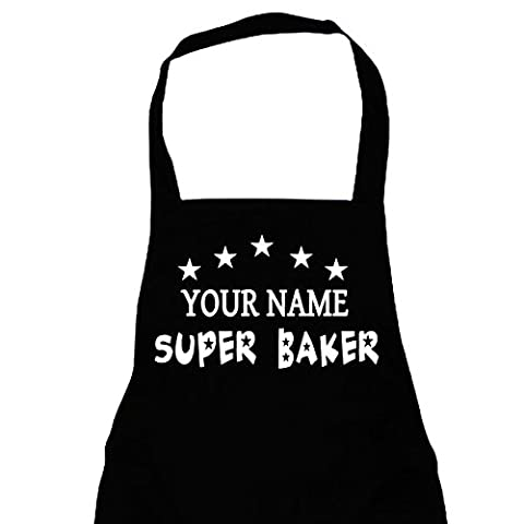 Super Baker Full Length Bib Apron PERSONALISED with ANY NAME - Free Delivery - One size -