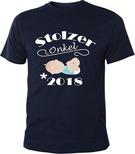 Mister Merchandise Herren Men T-Shirt Stolzer Onkel - 2018 Tee Shirt bedruckt Navy