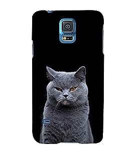 White Cat Design 3D Hard Polycarbonate Designer Back Case Cover for Samsung Galaxy S5 Mini :: Samsung Galaxy S5 Mini G800F