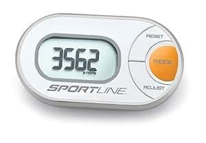 Sportline Schrittzähler 310 QLIP ANY-WEAR PEDOMETER, orange